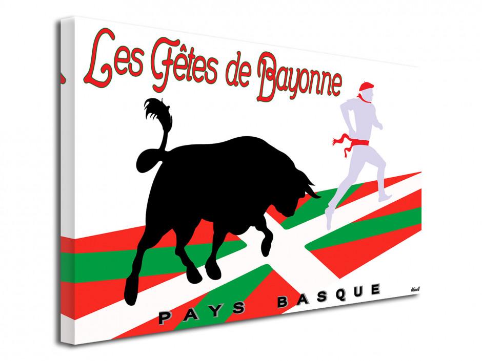 Tableau illustration Les Fêtes de Bayonne