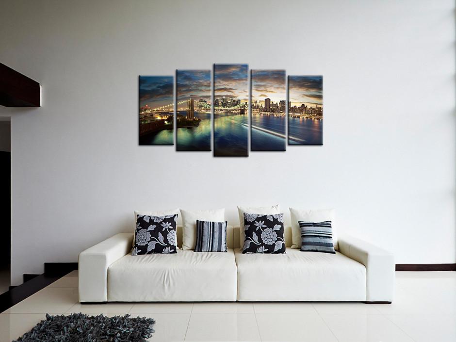 Tableau toile photo Coucher de soleil sur New York