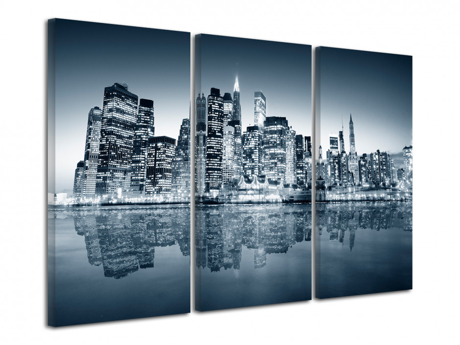 Tableau triptyque Manhattan New York