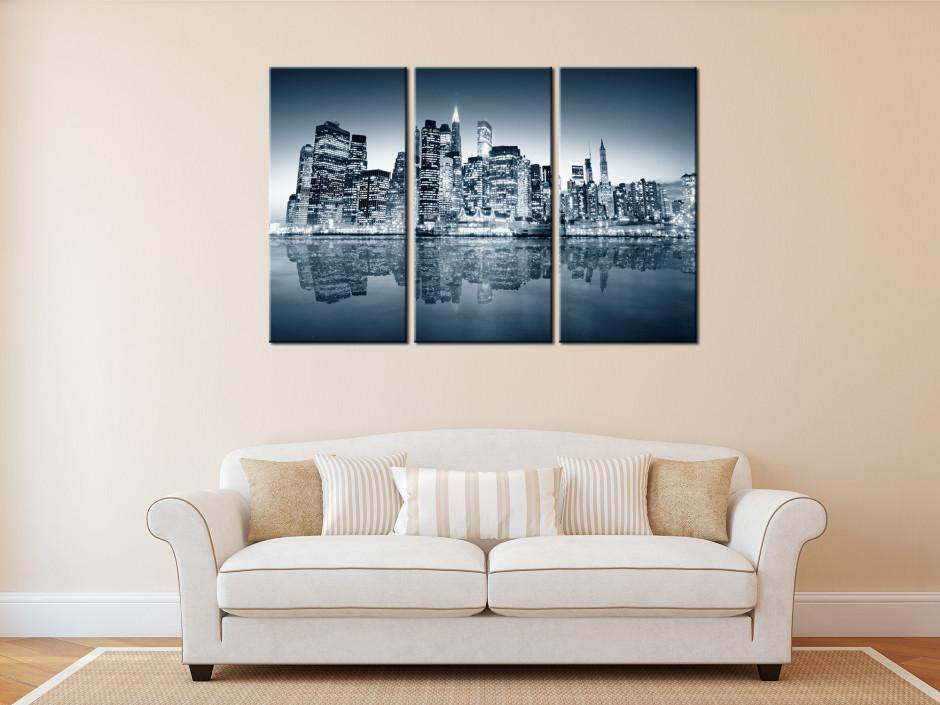 Tableau triptyque Manhattan New York