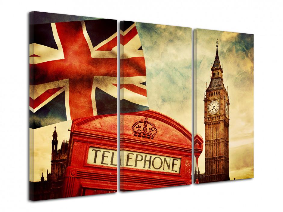 Tableau triptyque symbole de Londre