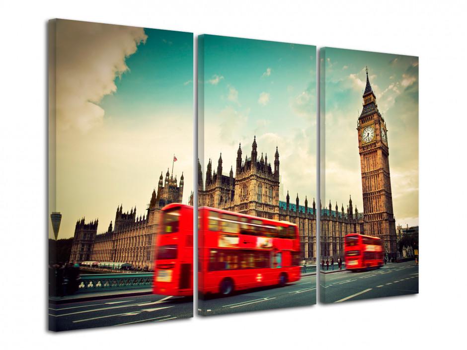 Tableau triptyque Londres