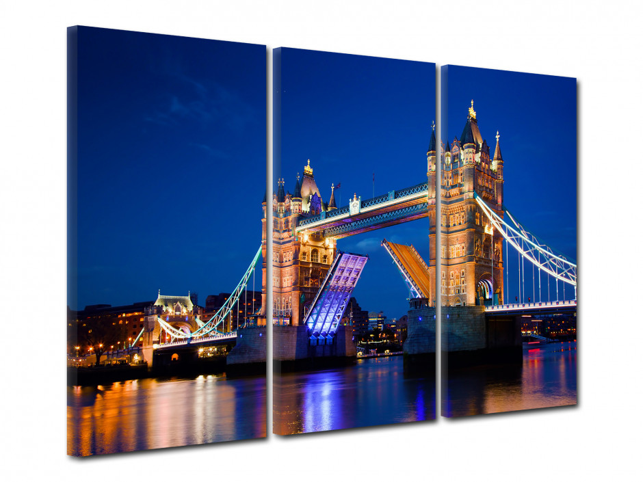 Tableau triptyque tower Bridge à Londres