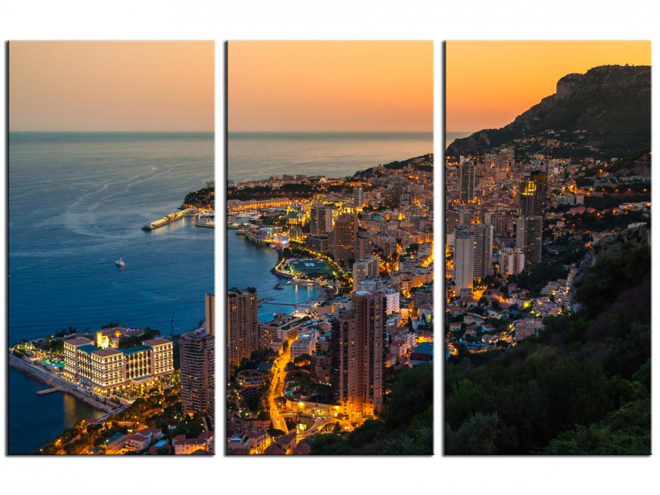 Tableau toile triptyque Monte Carlo