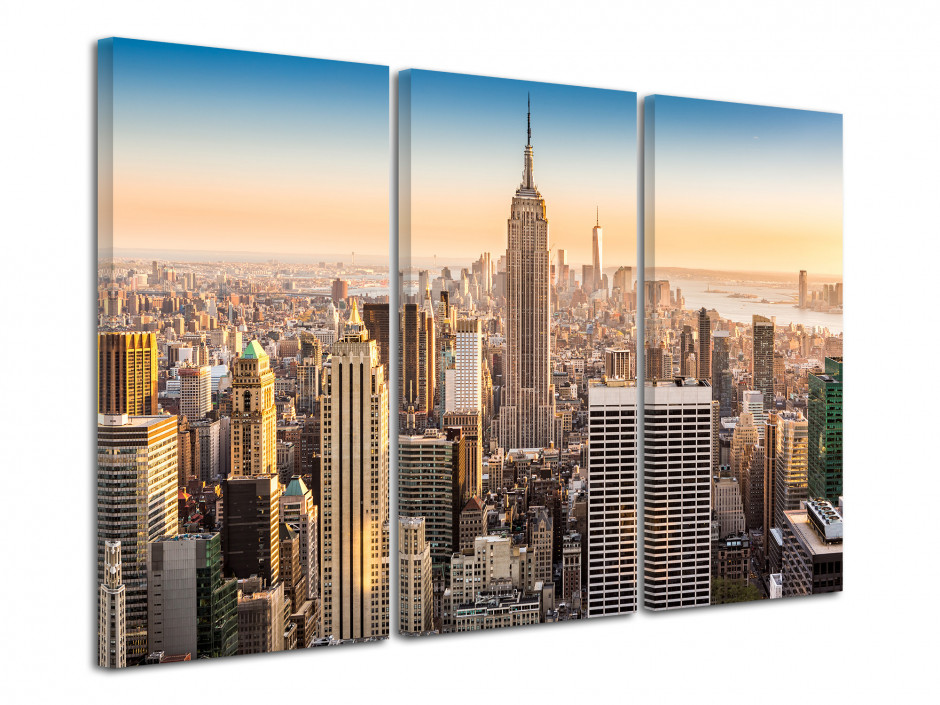 Tableau triptyque New York Building