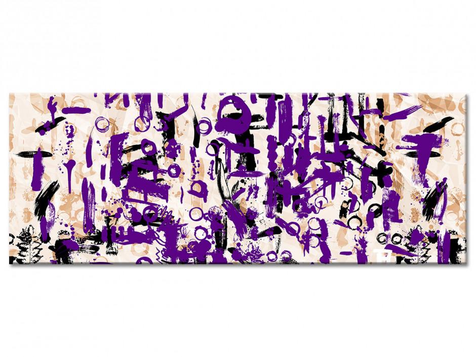 Tableau toile art moderne déco SYMBOLES VIOLETS