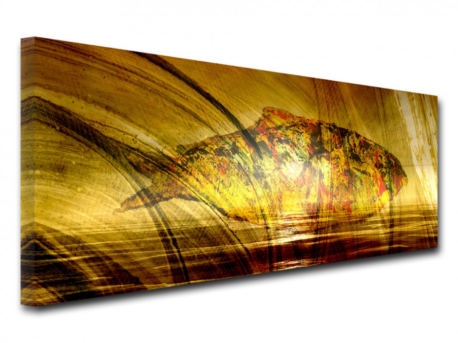 Tableau toile panoramique POISSON MODERNE