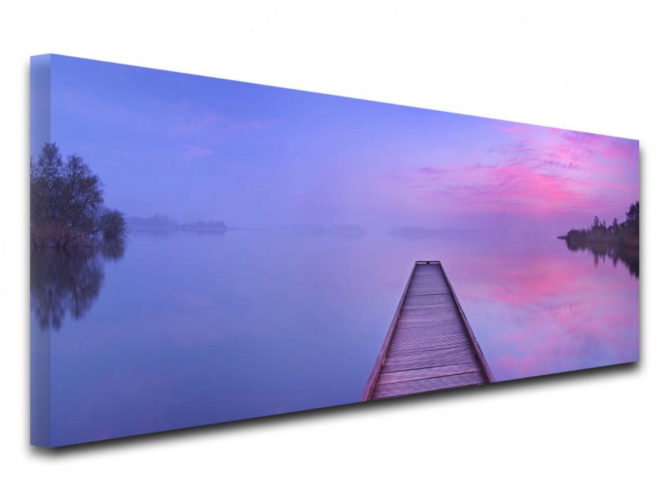 Tableau toile paysage photo PONTON