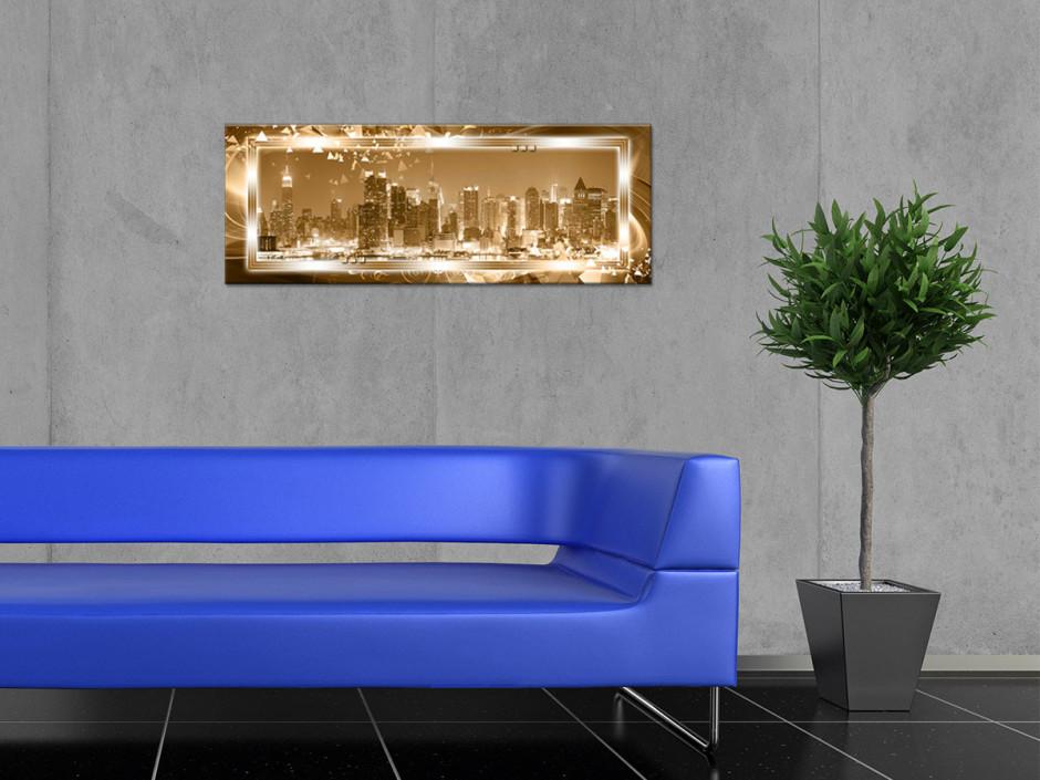 Tableau toile panorama MANHATTAN