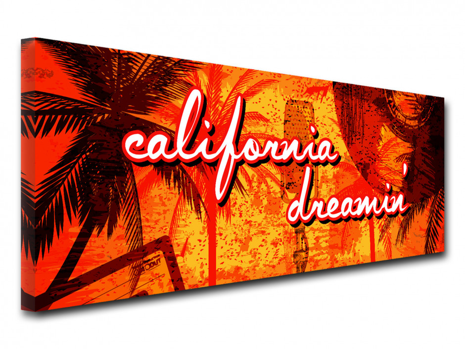 Tableau toile vintage RÊVE CALIFORNIEN