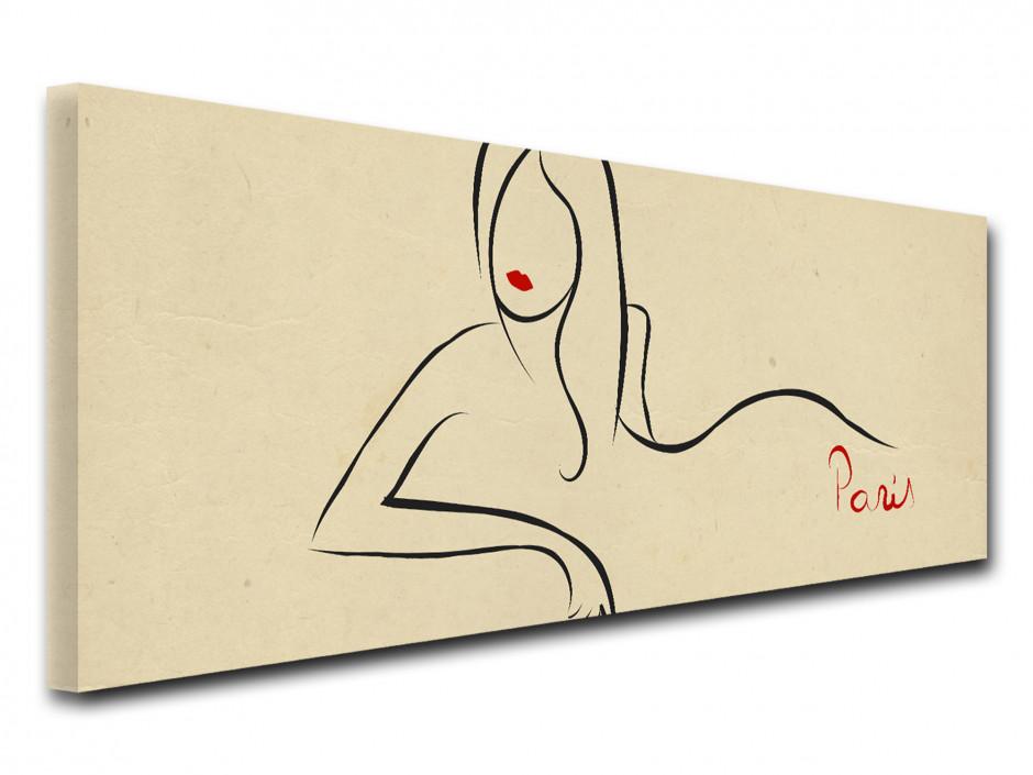 Tableau toile silhouette FEMME PARISIENNE