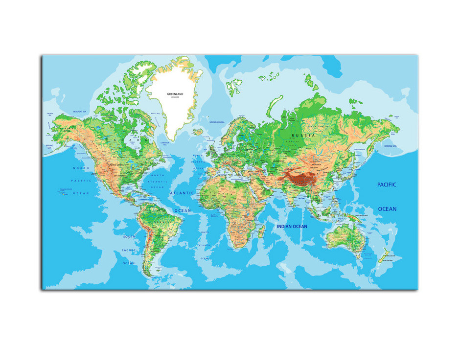 Tableau toile deco Carte du Monde