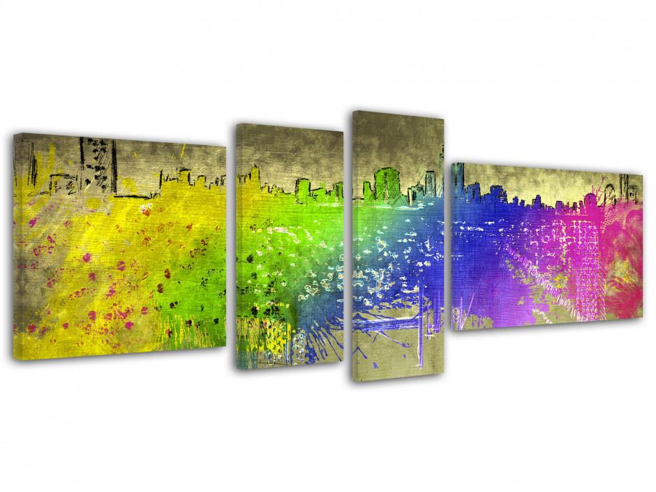Tableau toile cadre moderne urbain DESSIN
