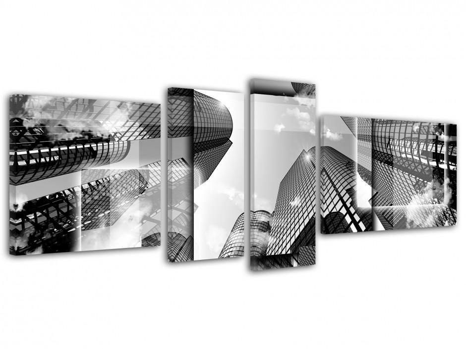 Tableau toile design noir et blanc BUILDING