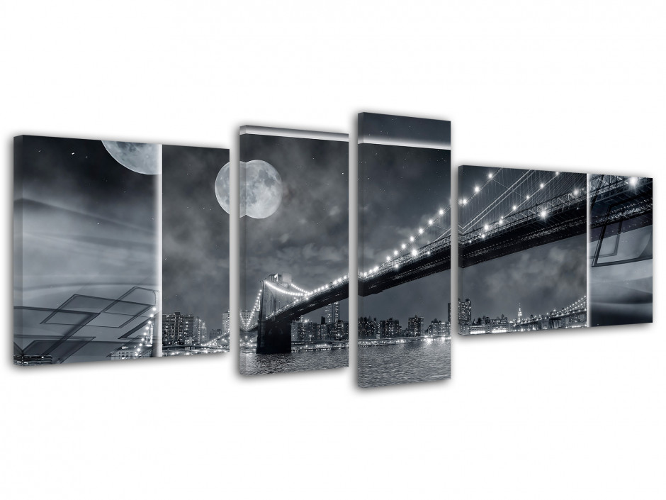 Tableau toile design BROOKLYN BY NIGHT
