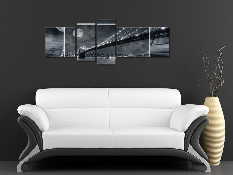 Tableau toile design BROOKLYN BY NIGHT