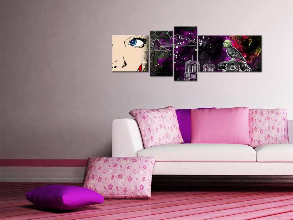 Tableau toile décoration vintage IMAGINAIRE