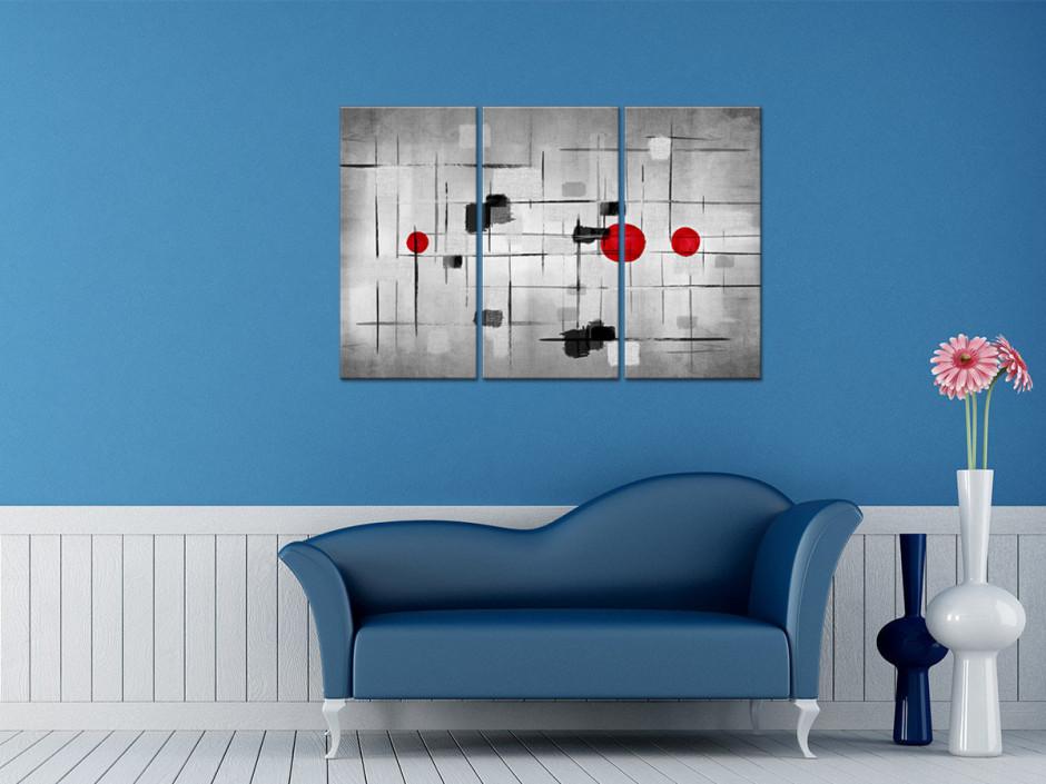 Tableau toile triptyque art moderne ÉPURÉ