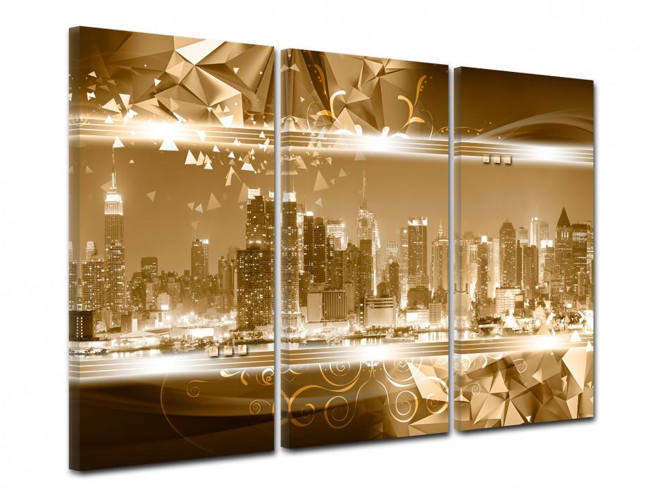 Tableau toile triptyque NEW YORK GRATTE-CIEL
