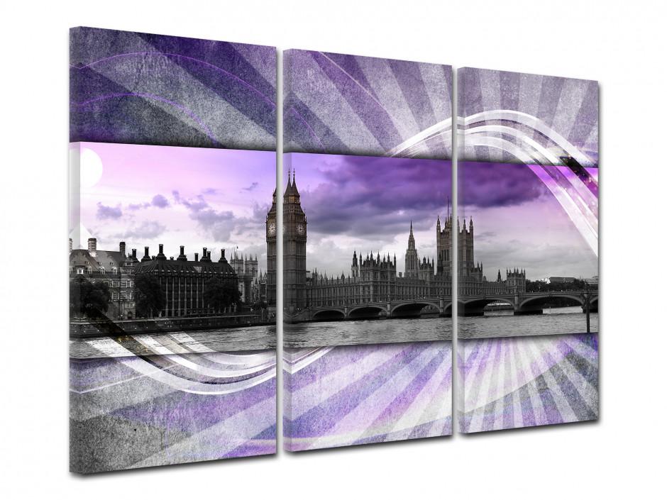 Tableau toile triptyque LONDRES