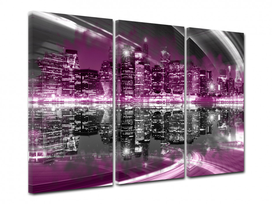 Tableau toile triptyque photo SKYLINE NYC