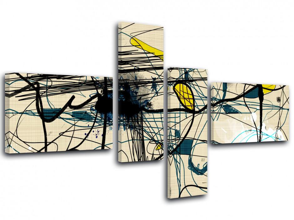 Tableau toile moderne abstrait ABEILLE
