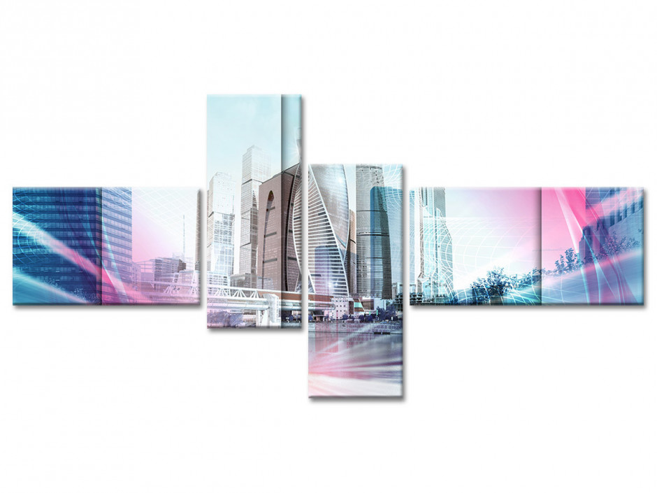 Tableau toile urbain DUBAÏ DOWNTOWN