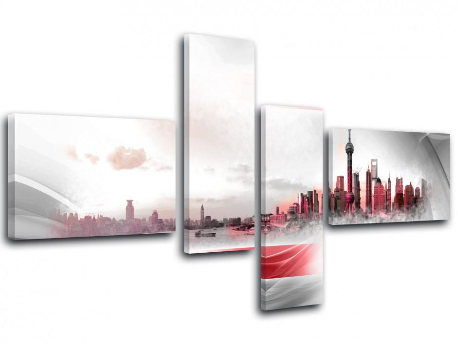 Tableau toile paysage SHANGAÏ ET MODERNISME