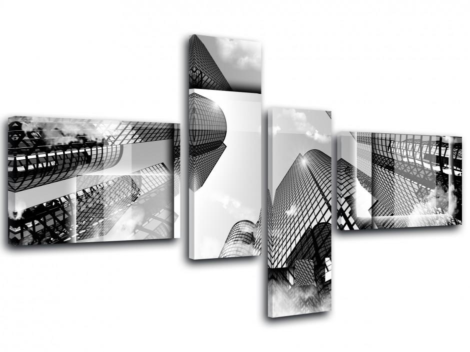 Tableau toile noir et blanc LA CITY