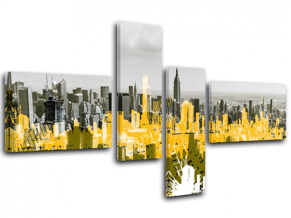 Tableau toile graphique déco NEW YORK GRAPHIQUE
