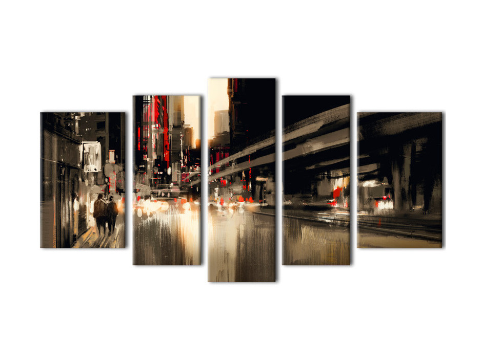 Tableau deco toile ABSTRACT CITY