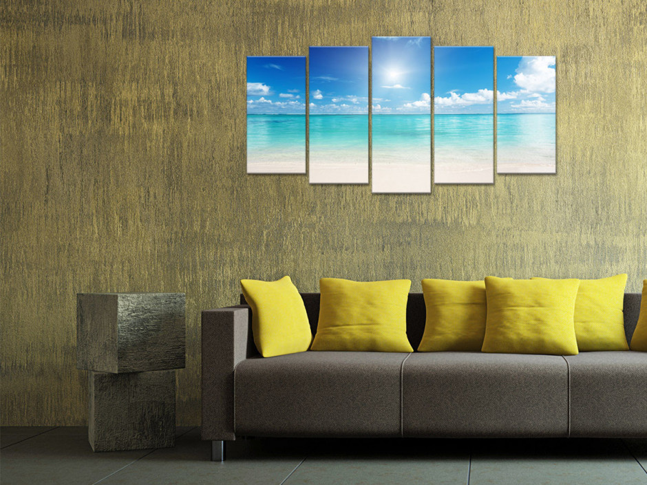 Tableau toile photo paysage LE LAGON