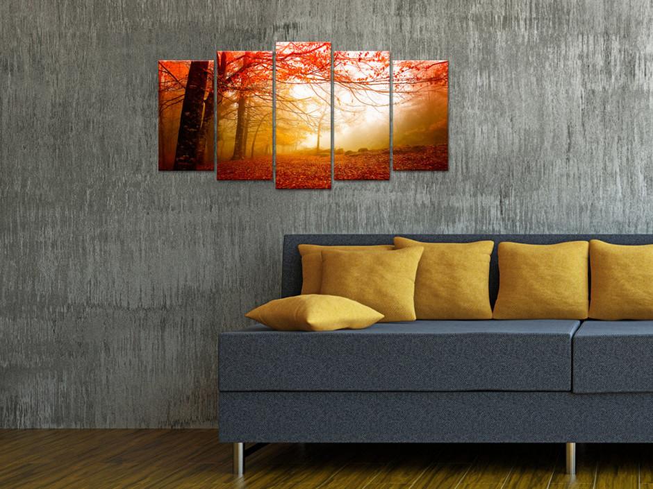 Tableau toile paysage FORÊT EN AUTOMNE