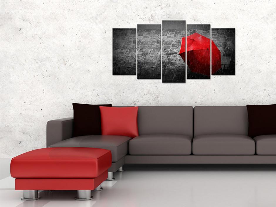 Tableau toile photo noir et blanc IL PLEUT