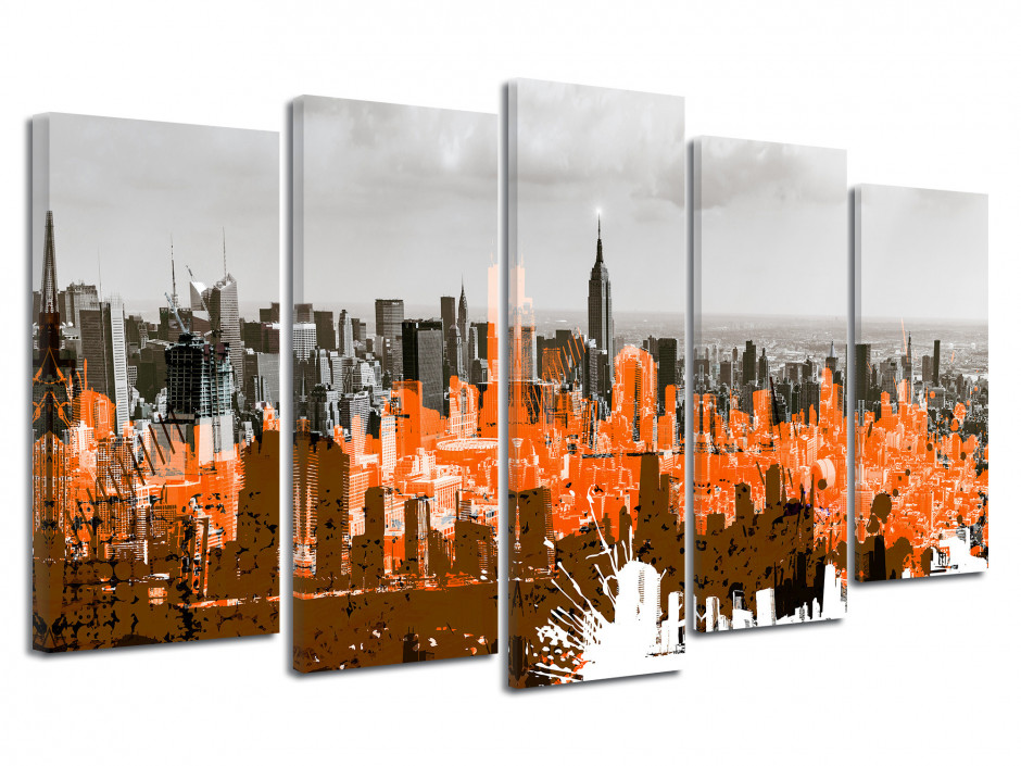 Tableau toile graphique NEW YORK CITY