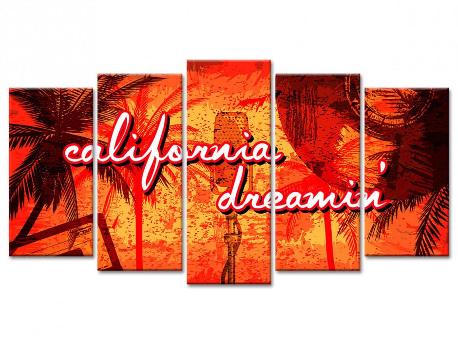 Tableau toile vintage ESPRIT CALIFORNIEN