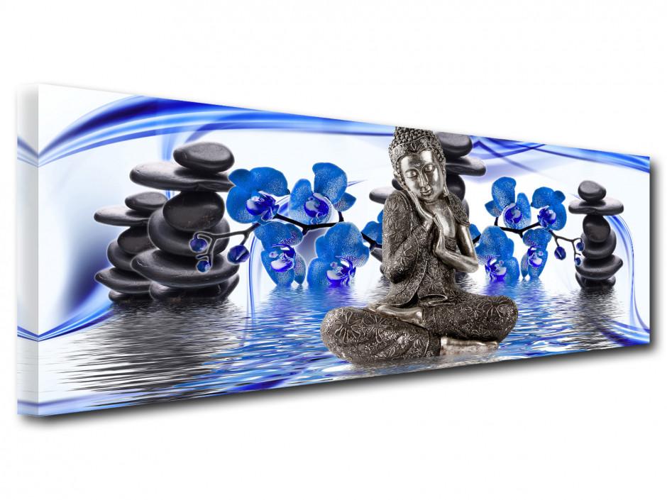 Tableau toile panoramique déco bouddha ESPRIT ZEN