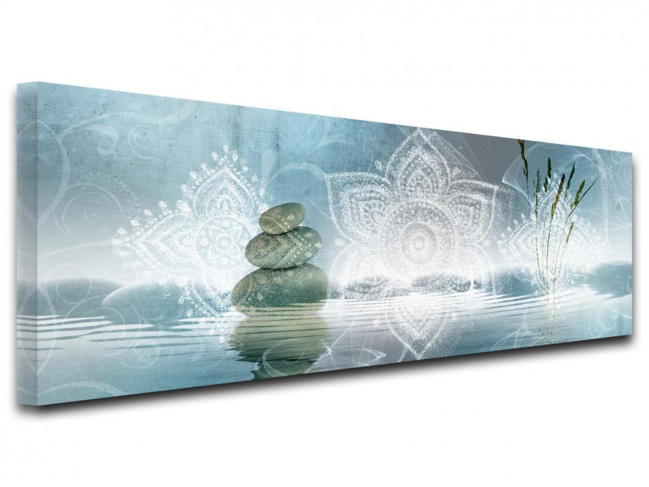 Tableau toile panoramique zen DÉTENTE