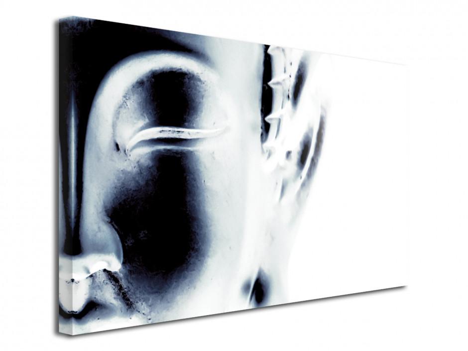 Tableau deco toile Bouddha Noir et Blanc