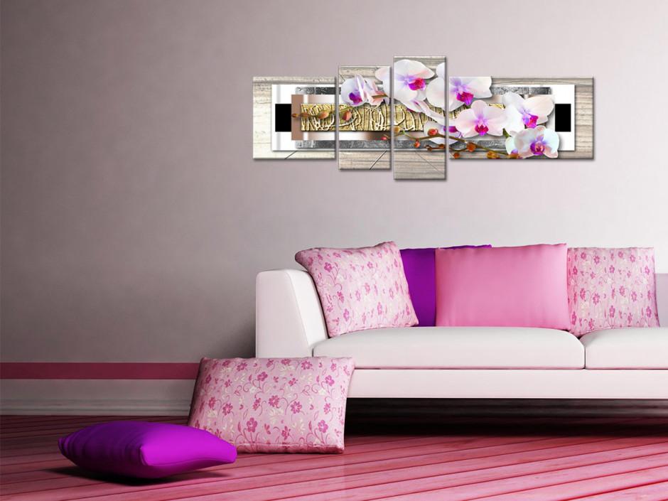 Tableau toile décoration murale ZEN ORCHIDÉES