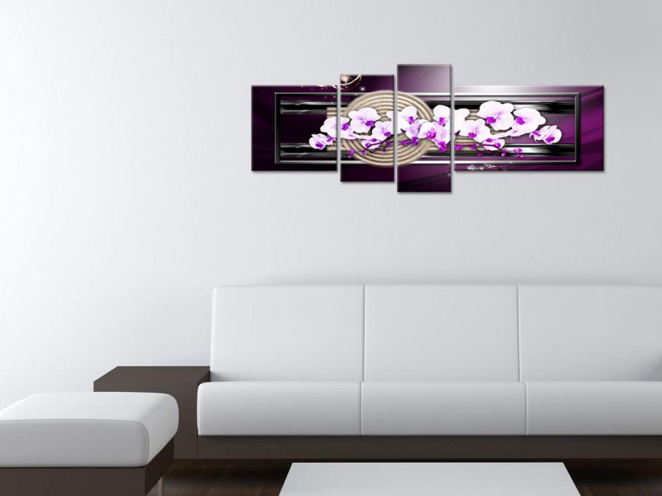Tableau toile fleurs ORCHIDÉES DÉCOR ZEN