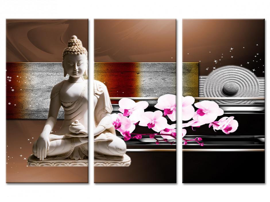Tableau toile triptyque zen DÉCORATION BOUDDHA
