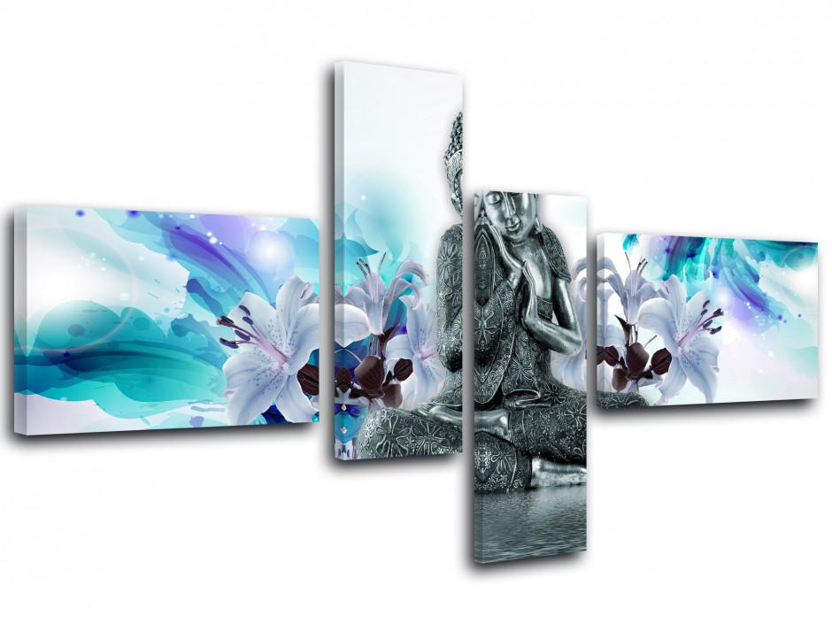 30 MINRAN DECOR B Bouddha Zen Bambou Moderne Impressions sur Toile Tableaux Peintures sur Toile Wall Art Salon Chambre Artwork Tableau D/écor /à la Maison 45cm