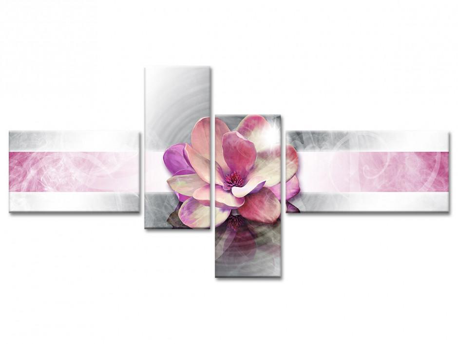 Tableau toile décoration FLEUR ROSE