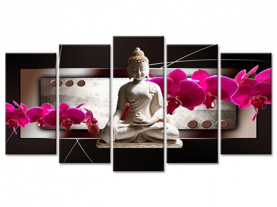 Tableau Xxl Decoration Fleurs Et Bouddha Pas Cher Declina