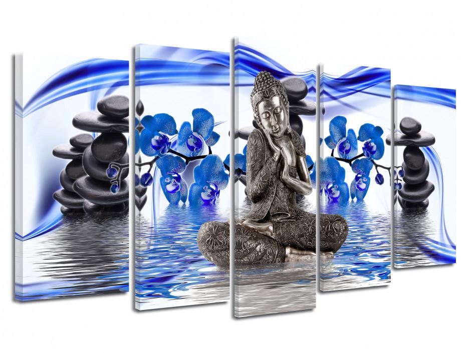 Tableau toile zen décoration NATURE BOUDDHA