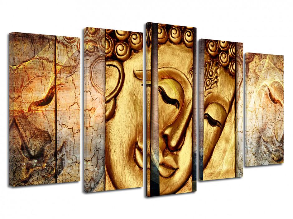 Tableau toile décoration GOLD BOUDDHA