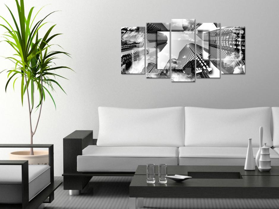 Tableau design Bulding Noir et Blanc