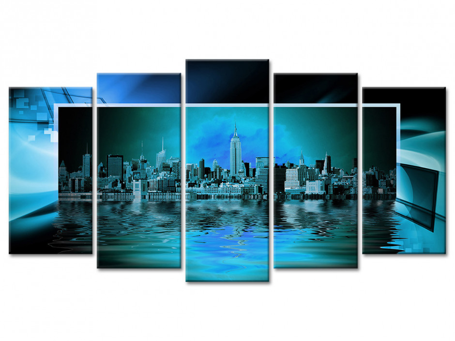 Tableau moderne design New York Panorama