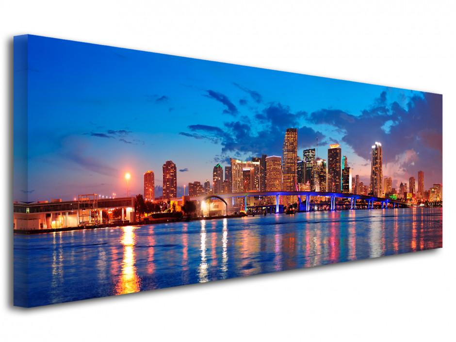 Tableau decoratif panoramique sur Miami